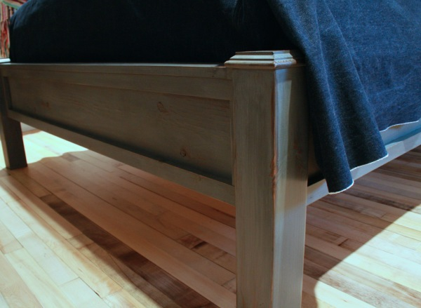 Chalk Painted Bed from Furniture Painting 101 at The Friendly Home