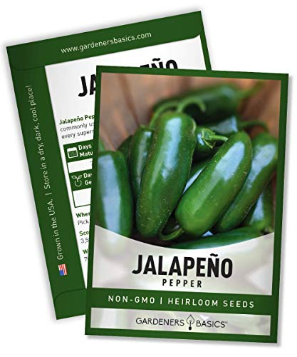 Jalapeno Pepper Seeds for Planting Heirloom Non-GMO Jalapeno Peppers Plant Seeds for Home Garden Vegetables Makes a Great Gift for Gardeners by Gardeners Basics