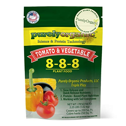Purely Organic Products Tomato & Vegetable Plant Food 8-8-8, 250 sq. ft.
