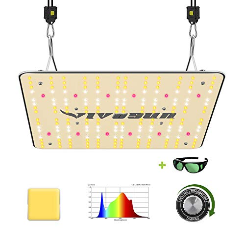VIVOSUN 2020 Latest VS1000 LED Grow Light with Samsung LM301H Diodes & Sosen Driver Dimmable Lights Sunlike Full Spectrum for Indoor Plants Seeding Veg and Bloom Plant Growing Lamps